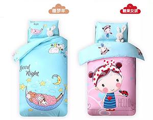 幼儿园被子三件套_幼儿园床上用品卡通大板系列-寝夜思床上用品